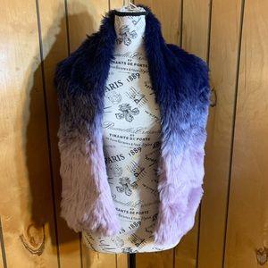 INC faux fur ombré shawl